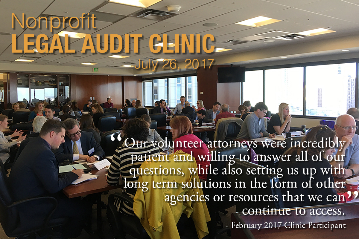 Colorado Nonprofit Legal Audit Clinic_July 2017